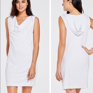 Fabletics White Ivana Swim Coverup Hooded Dress L